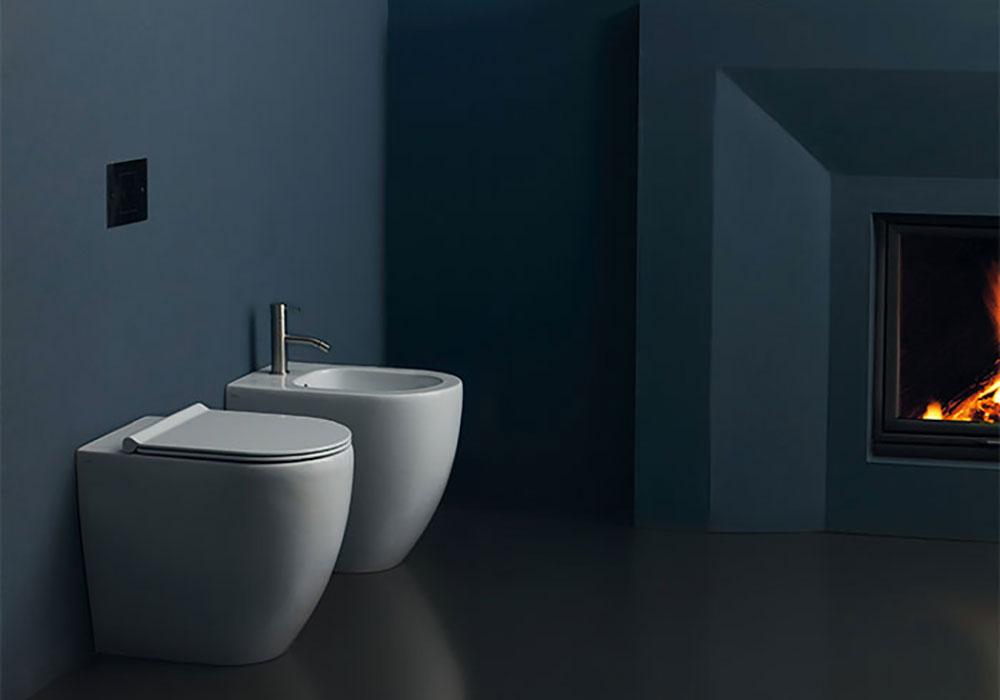 Sanitari kartell boiserie in ceramica per bagno - Kartell accessori bagno ...